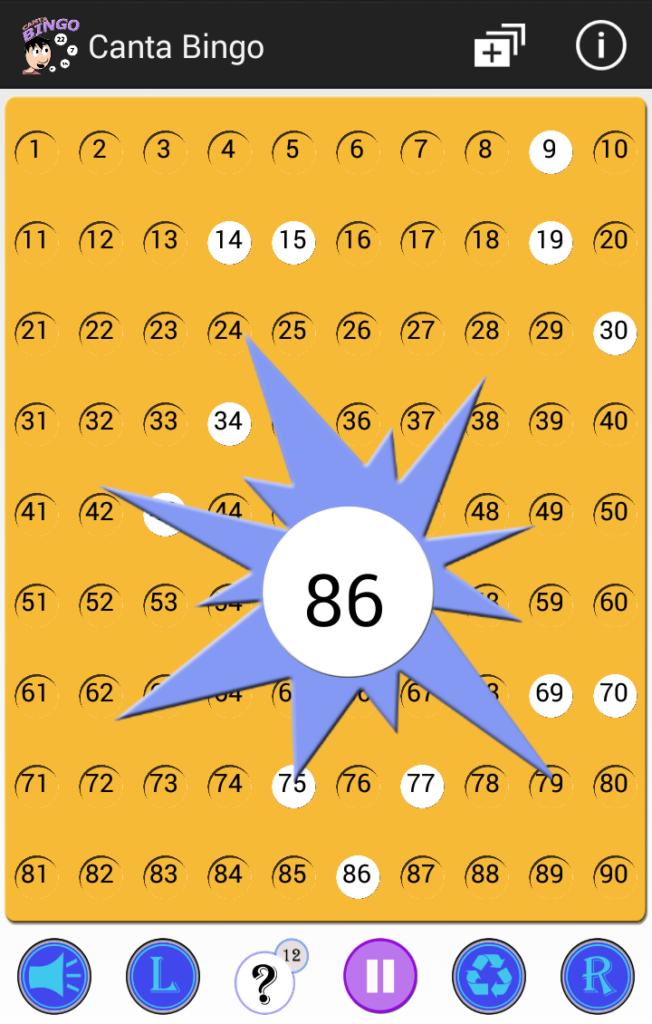 Partida Bingo 90 - Canta Bingo