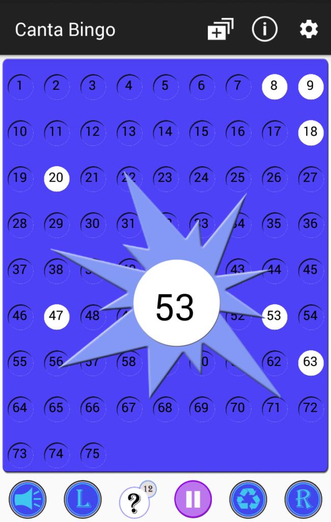 Partida Bingo 75 - Canta Bingo