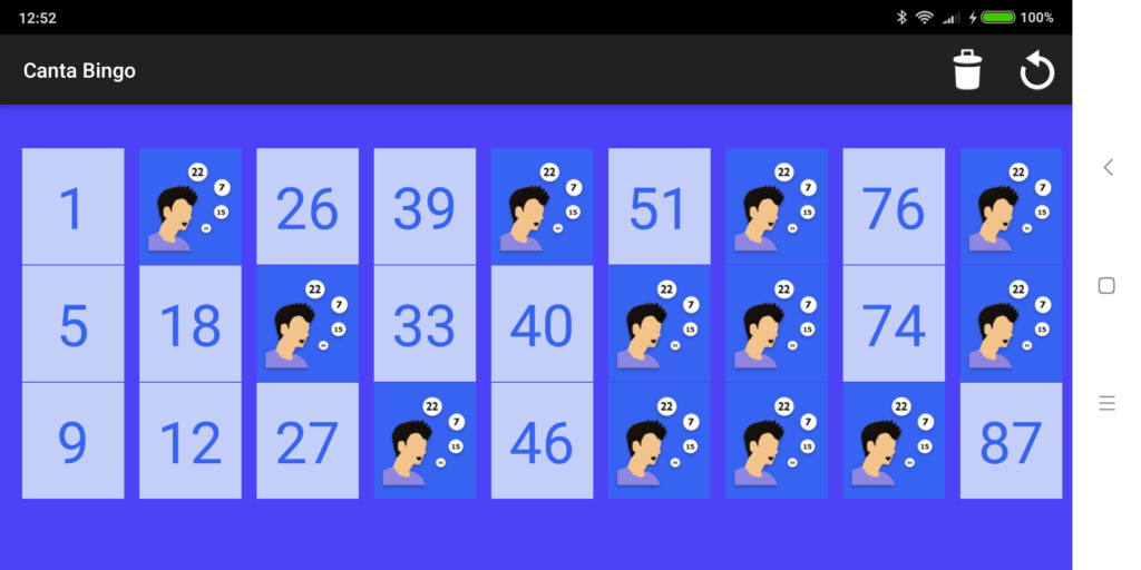 Cartón de Bingo 90 - Canta Bingo