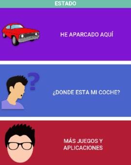 Pantalla Principal – ¿Dónde está mi coche?