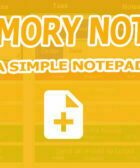 Memory Notes - A Simple Notepad